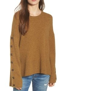 Madewell button sleeve pullover